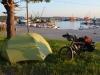 Zum erstem Mal wild zelten im Fischereihafen