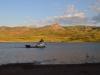 Stausee mit Fischerboot