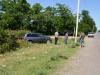 Rückwärts eingeparkt mit schätzungsweise mindestens 90 km/h