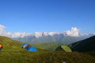 Zelten auf 2900 Meter Höhe