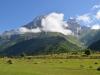 Der Berg Ushba in Swanetien