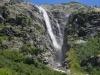 Wanderung zum Wasserfall in Swanetien