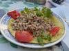Frühstück in Madinas B&B, Omelette mit gekochtem Getreide