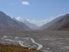 Blick zurück auf das Pamirgebirge.