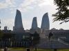 Wahrzeichen von Baku: die Flame Towers