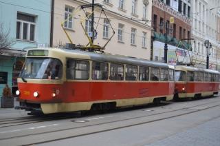 Alte Straßenbahn in Bratislava