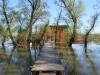 Der Pfad übers Wasser zum Hostel.