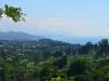 Blick zurück nach Batumi von der hügeligen Küstenstraße