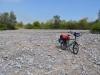 Schiebestrecke durch trockenes Flussbett